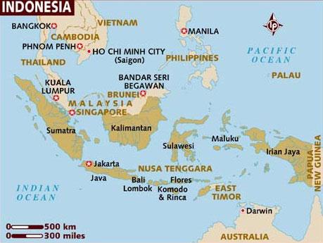Znalezione obrazy dla zapytania indonezja mapa
